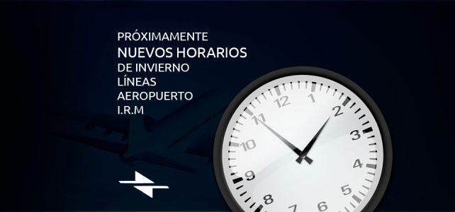 Cambio de horarios líneas aeropuerto I.R.M