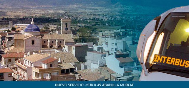 Servicio Regular permanente de Viajeros MUR-049 Abanilla-Murcia