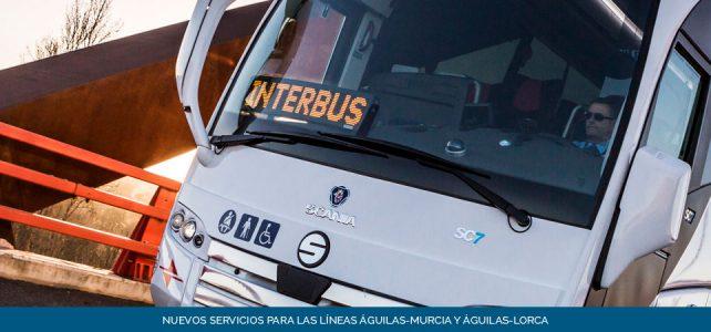"""Nuevos servicios en Líneas """"Águilas-Murcia"""" y """"Águilas-Lorca"""""""